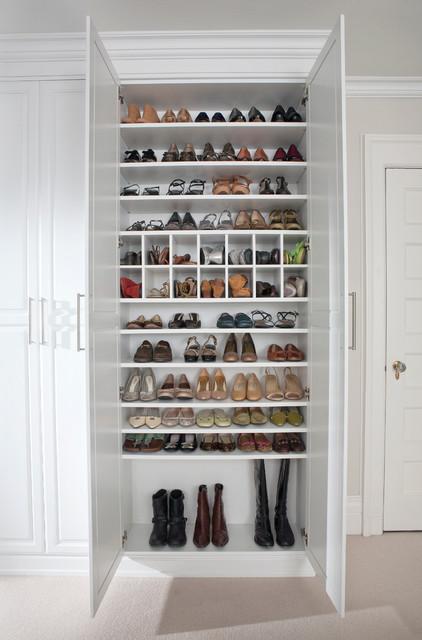 Custom Shoe Closet Traditional Closet New York By TransFORM