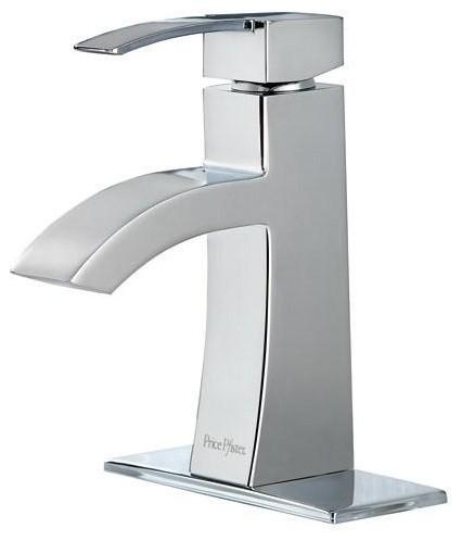 Price Pfister Bernini Lavatory Faucet Single Control (F-042-BNCC) contemporary-bathroom-faucets