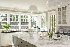 kitchen ideas / Welch Forsman Associates: wall paint // marble // windows // con