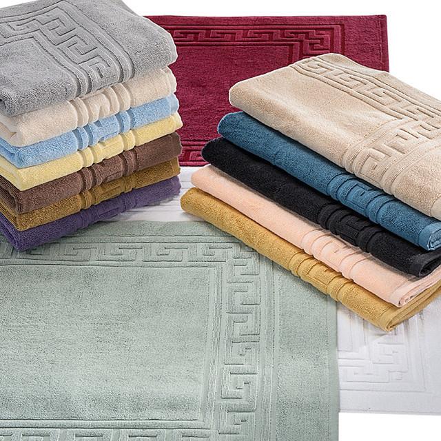 Egyptian Cotton 900gsm 2pc Bath Mat Set Bath Mat Silver