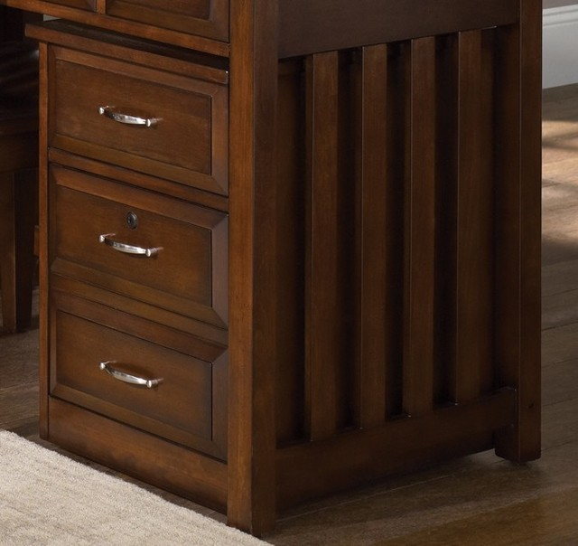 Hampton Bay Mobile File Cabinet in Cherry Finish traditional-filing-cabinets