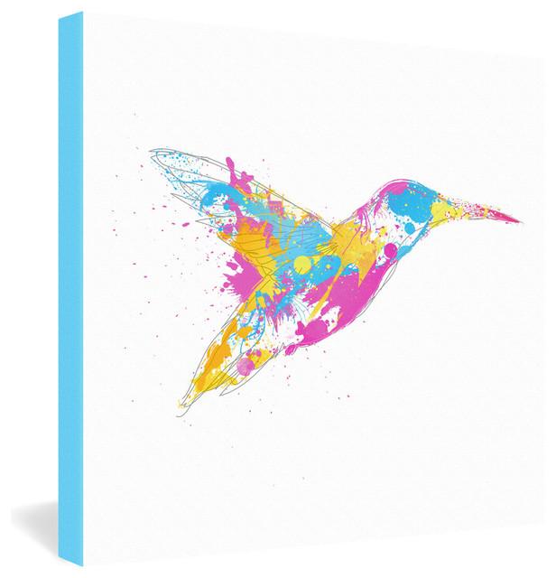 Robert Farkas Bird Of Colour Gallery Wrapped Canvas eclectic-prints-and-posters