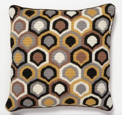 Geo Bargello Needlepoint Pillows by Trina Turk eclectic-decorative-pillows