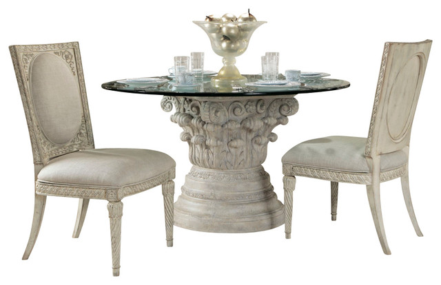 boutique 4 piece round dining room set traditional dining tables