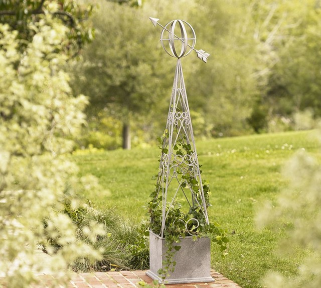 Sculptural Obelisk traditional-garden-statues-and-yard-art