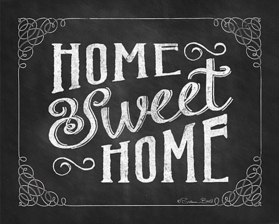 'Home Sweet Home' Chalk Art Print - Contemporary - Prints And Posters - by Tickled Pink