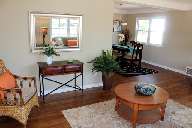 Staged , seen and SOLD! traditional-living-room