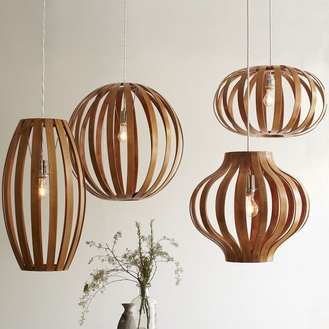 Bentwood Pendants - modern - pendant lighting - by West Elm