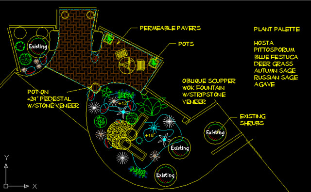 Contemporary feng shui garden contemporary phoenix for Feng shui garden layout