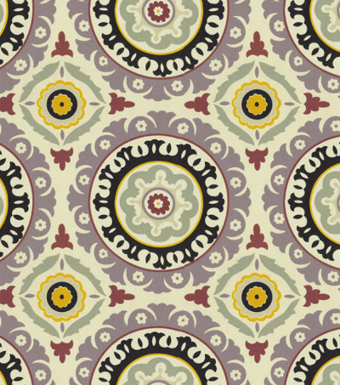 Waverly Modern Essentials Fabric - Solar Flare, Onyx/Lilac eclectic-fabric