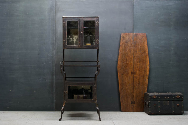 Rustic Victorian Apothecary Medical Cabinet eclectic-storage-cabinets