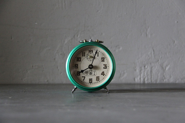 Vintage French Blangy Alarm Clock, Green by Maintenant ...