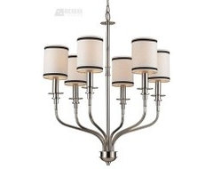 Trump Home Tribeca 6-Light Transitional Chandelier - ELK-1625-6 modern-chandeliers