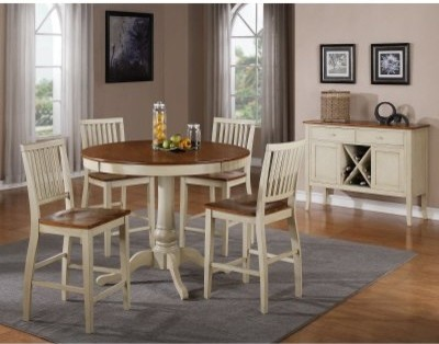 Dining Table Round Dining Table Two Tone