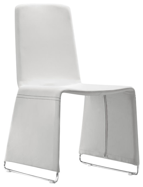 Zuo Nova Dining Side Chair in White modern-dining-chairs