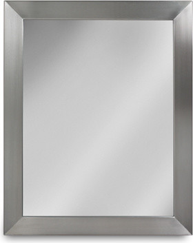 Stainless Steel Mirror contemporary-bathroom-mirrors
