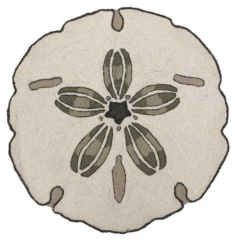 Sand Dollar–shaped Rug contemporary-rugs