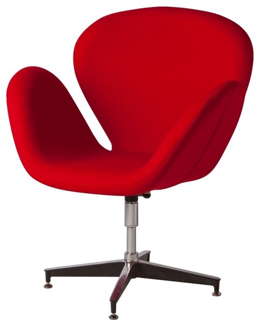 UPHOLSTERED BIG RED CHAIR Contemporary Armchairs And