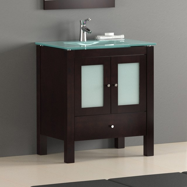 "30"" Contemporary Bathroom Vanity - Modern - miami - by BATHROOM PLACE"
