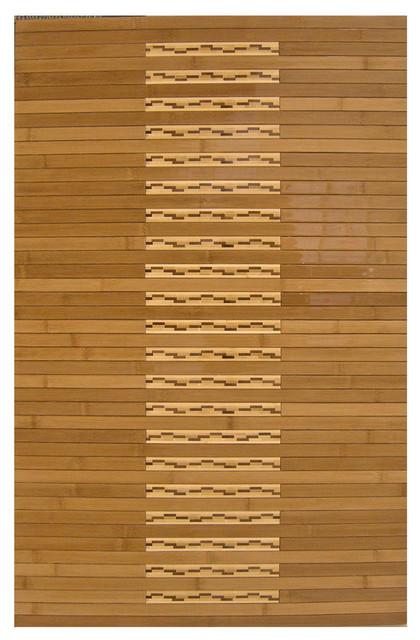 Anji Mountain Bamboo Area Rugs Bamboo Kitchen & Bath Mat contemporary-bath-mats