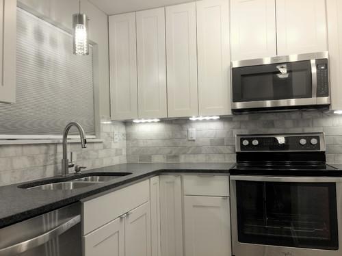 Steel Grey Granite Kitchen Countertops Design Ideas