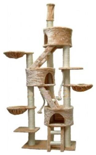 "106"" Three Condo Cat Tree modern-pet-supplies"