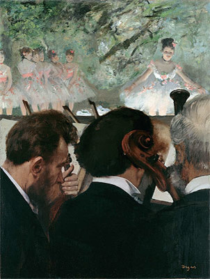 Musicians in the Orchestra, 1872 | Degas | Canvas Print by TOPofART prints-and-posters