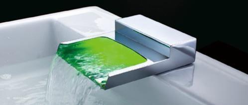 Chrome LED Waterfall Bath Tub Spout HM-TF03 contemporary-bath-products