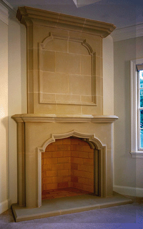 Avalon Cast Stone Fireplace Mantel traditional-fireplace-accessories