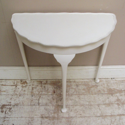 Vintage Half Moon Table - Traditional - Console Tables - by frenchfinds.co.uk