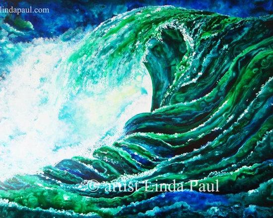 Linda Paul - art on sale -  Large Contemporary Painting of Ocean Waves - artist Linda Paul  - large contemporary art painting Title: Roll with the Waves of Life