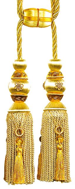 Yellow Double Tassel Tieback modern