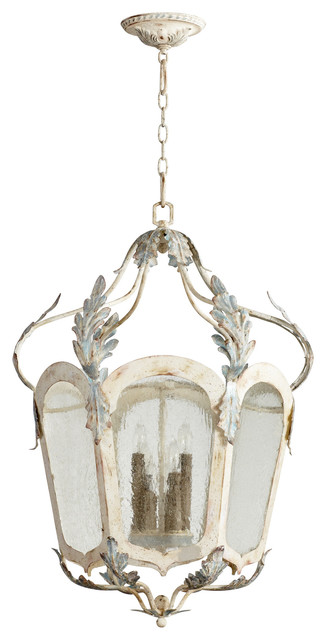 Pendant lighting french country kitchen : Chantilly french country parisian blue white light
