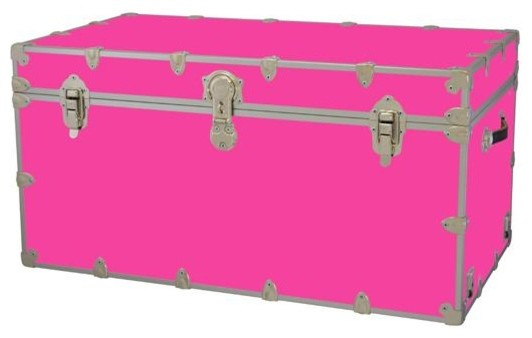 Toy Trunk - Neon Pink (Large) - Contemporary - Kids Storage Benches And Toy Boxes - by ShopLadder