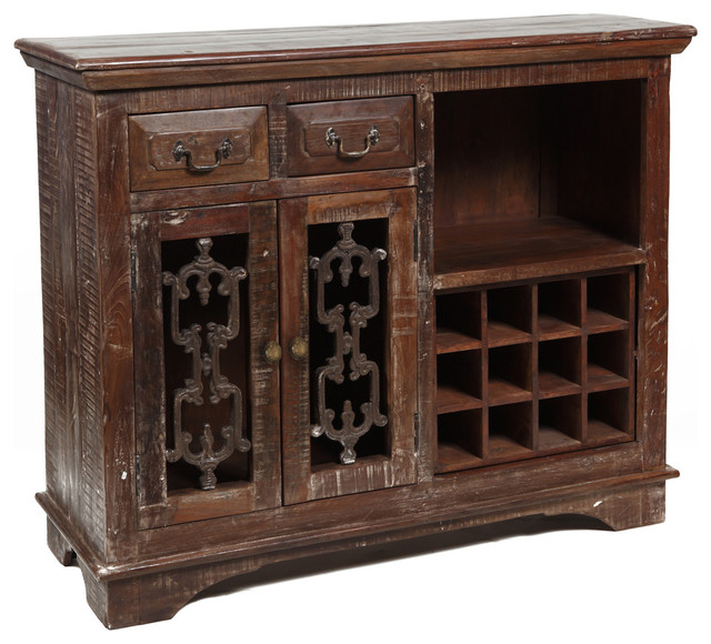 """Cambria Wine Cabinet 54"""" - Traditional - Wine And Bar ..."""