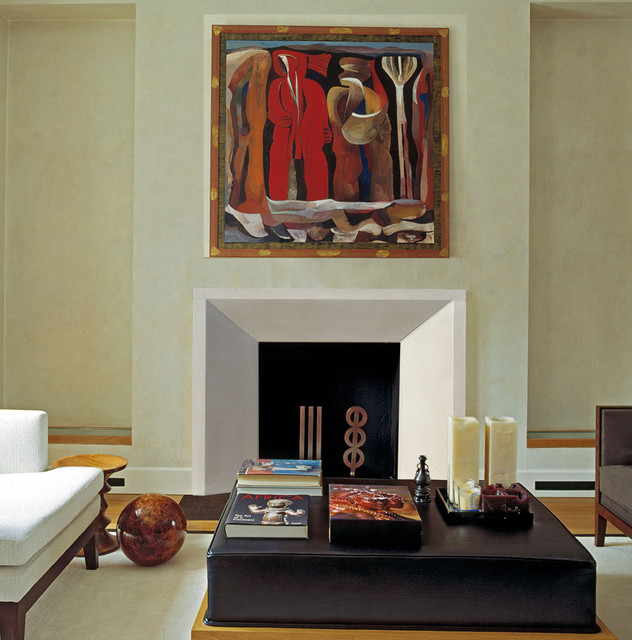 Newport Fireplace Mantel Contemporary Indoor Fireplaces Oklahoma City By Devinci Cast Stone