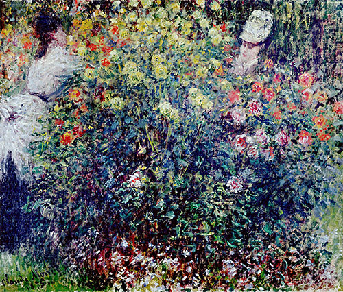 Women Amidst Flowers | Monet | Hand-Painted Art Reproduction artwork