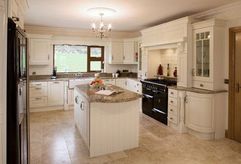 Cream Painted Traditional Kitchen Cabinetry Other