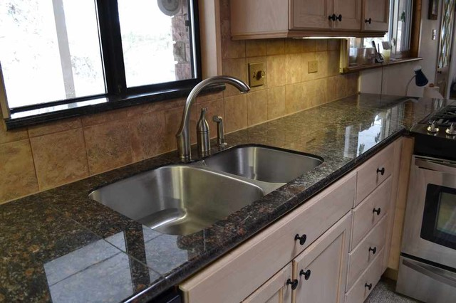 Lazy Granite Tan Brown Countertop With Sink Kit