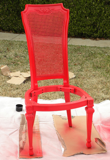 Diy Ideas Spray Paint And Reupholster Your Dining Room Chairs Eclectic Dallas By Sarah
