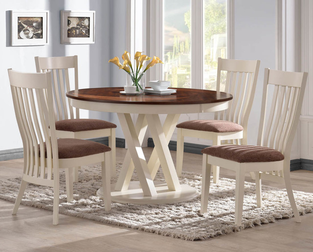 """Naomi 42"""" Round Dining Table modern-dining-tables"""