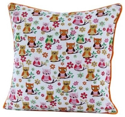 Owl Print Cushion Cover modern-decorative-pillows