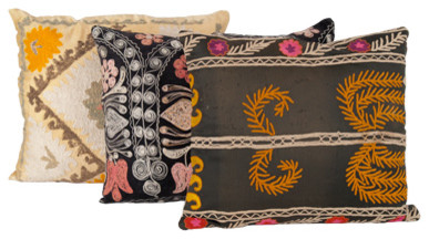 Vintage Suzani Pillow eclectic pillows