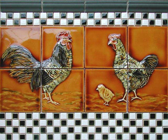 Decorative Relief Tile Ideas Farmhouse Portland