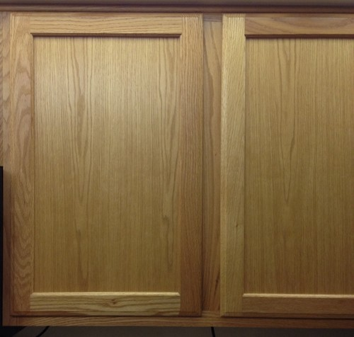 Staining or painting kitchen cabinets