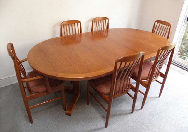 Skovby Danish teak expandable dining table - Midcentury - Dining Tables - philadelphia - by ...