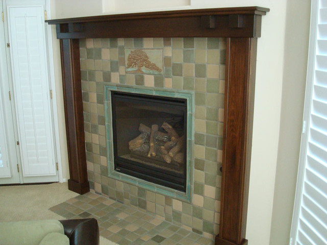 fireplace mantels and surrounds craftsman fireplace