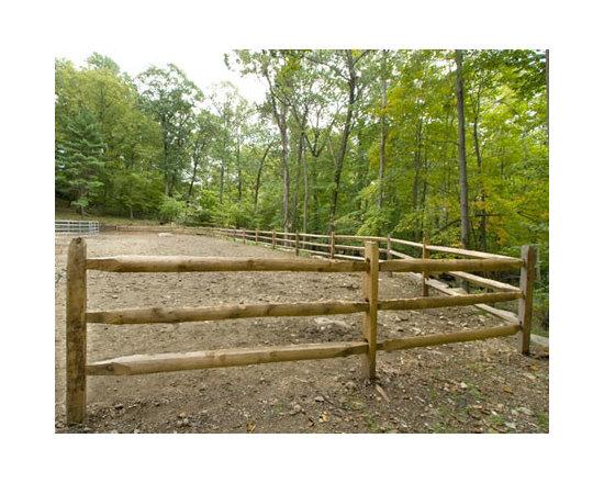 Wood Fences - post & rail fence, post and rail, 3 rail fence