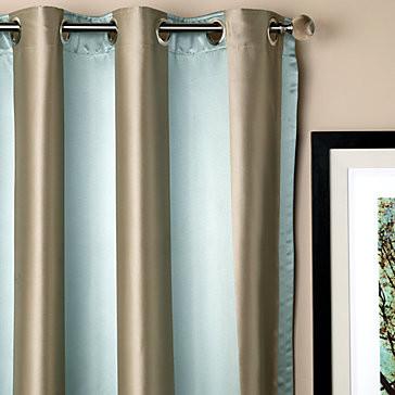 Roma Panels - Lagoon modern-curtains
