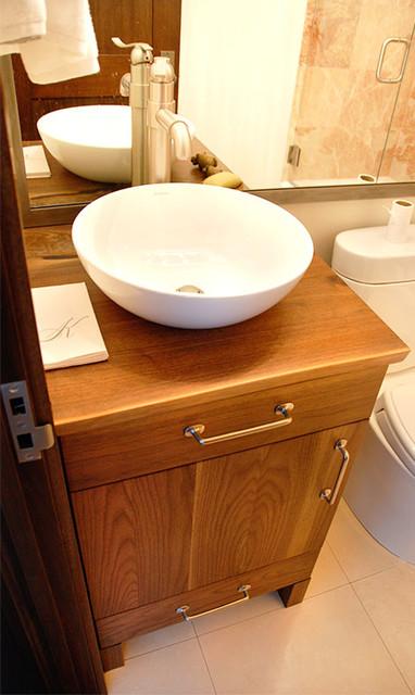 Vanity Side Splash : Walnut vessel vanity contemporary tops and side